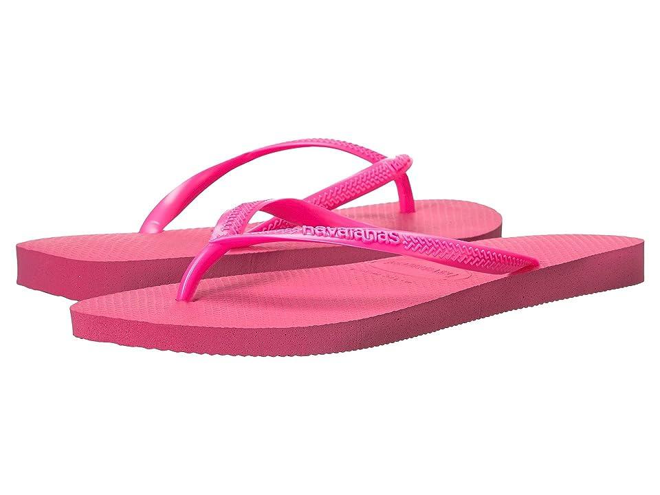 Havaianas Slim Flip Flops (Shocking Pink 1) Women