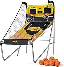 Sharpshooter Dual Shot Basketball Arcade Game, 8 Game Options & 8 Balls - Indoor Basketball Hoop with Durable Frame, Elect...