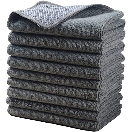 Details about  /50Pc Microfiber Cleaning Towel Car Wash Kitchen Clean Cloth Dish Washing 30x30cm