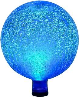 مصباح كروي زجاجي ملون يعمل بالطاقة الشمسية G10-T-F 000 من Achla Designs - ديكور خارجي للحديقة، البابا، أزرق مخضر