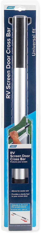Allows Easier Exit Protection RV Sc Camco 42186 White RV Screen Door Cross Bar