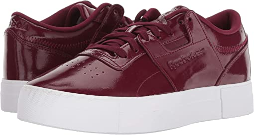 Shiny Suede/Rustic Wine/White