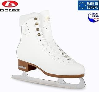 Botas - Model: Diana/Made in Europe (Czech Republic) / Figure Ice Skates for Women, Girls, Kids/Sabrina Blades/White Color