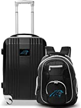 """Denco Carolina Panthers 2-Piece Luggage Set, Includes 21-inch Two-Tone Hardcase Spinner and 19"""" Laptop Backpack"""