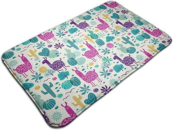 OKAYDECOR Luxury Rugs Kids Play Mat For Bed Game Rooms Reading Nook Super Soft Living Room Bedroom Classroom Carpet Llama Cactus Wilderness Home Decor Mat