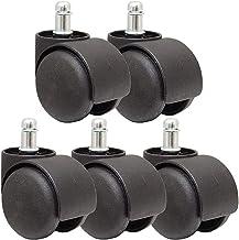 Beter Roll 50 mm Kantoorstoel Castor Roll Set van 5 Zwarte DIY reserveonderdelen (kleur: zwart) (Color : Black)
