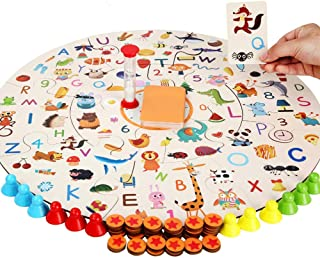 Kids Memory Matching Board Card Game for Toddlers 3 Years Old Wooden Puzzles Tabletop Games Learning Toy Age 2 3 4 5 and up Families Party