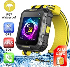 [SIM Card Included] Children Smartwatch Phone GPS Tracker with Camera/Two Way Call SOS/Anti-Lost Smart Bracelet/Waterproof IP67 Kids Sport Wrist Watch for 3-12 Boys Girls Xmas Holiday Birthday Gifts