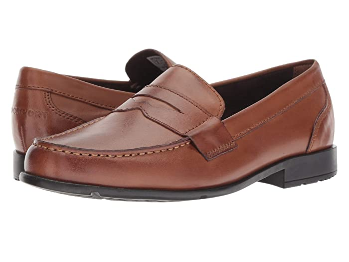 Rockport  Classic Loafer Lite Penny (Dark Brown1) Mens Slip-on Dress Shoes