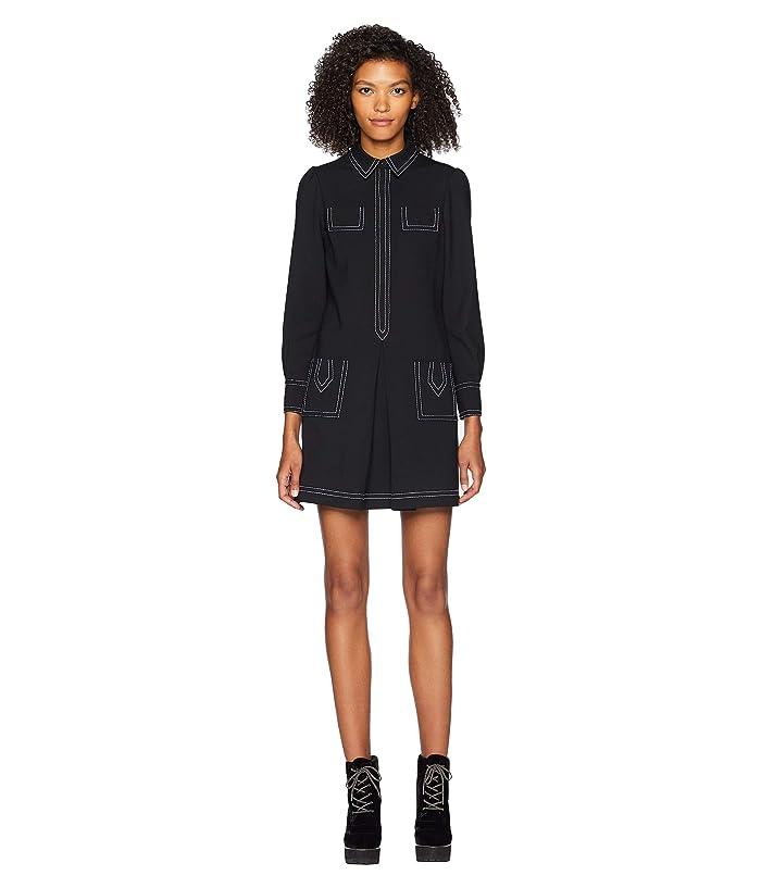 Boutique Moschino Stitch Collared Dress (Fantasy Print Black) Women