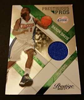Baron Davis Clippers 2010 Prestige UCLA Game Worn Jersey Certified JG3