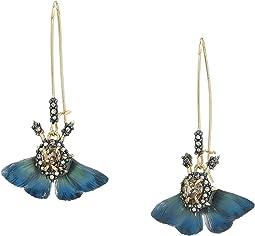 Brutalist Butterfly Kidney Wire Earrings