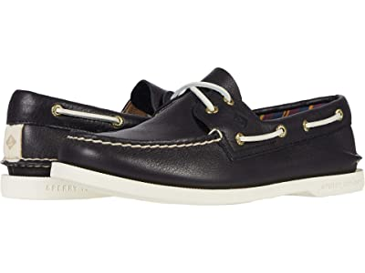 Sperry Authentic Original Plushwave Leather (Black) Women