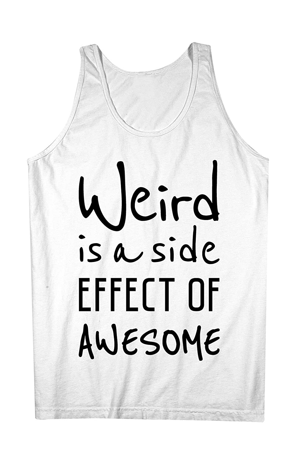 Weird Is A Side Effect Of Awesome おかしいです 皮肉な 男性用 Tank Top Sleeveless Shirt