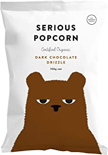 Serious Foods Popcorn, Dark Chocolate Drizzle, 100g (Made in New Zealand, Organic, Non GMO Corn, Vegan)