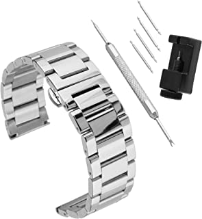 Capable 10mm 12mm 14mm 16mm 18mm 20mm 22mm 24mm Thin Stainless Steel Bracelet Strap With A Silver Bracelet Milan Watch Accessories Watches