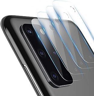 TAMOWA skottsäker glasskyddsfilm för Samsung Galaxy S20 Plus, 4 delar, kameralins glasfilm, transparent skyddsglas för Sam...