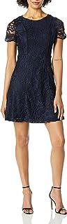 Calvin Klein womens Two Tone Lace Dress Casual Dress