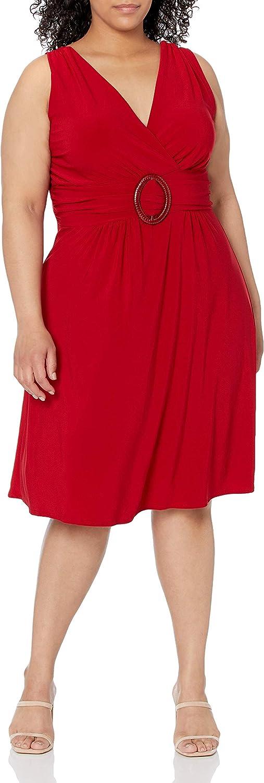 Star Vixen Women's Plus-Size Sleeveless O-Ring Dress