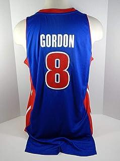 4a502dd3d511 2011-12 Detroit Pistons Ben Gordon  8 Game Used Blue Jersey PSTON0030 - NBA