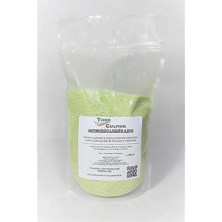 Anti Musgo y líquenes 0.5kg. A base de sulfato de hierro (11%). TRATAMIENTO PARA 50 LITROS.
