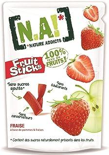 N.A! Nature Addicts - Sachet de Fruit Sticks Fraise 40g - 100% Issu de Fruits - Sans Sucres Ajoutés, Sans Édulcorants ni C...