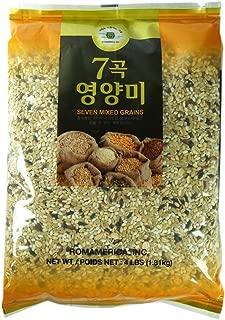 ROM AMERICA 7 Seven Mixed Grains Brown Rice Sweet Rice Whole Barley 4 Pound - 7곡 영양미 잡곡