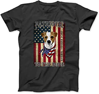 Mint Mama Jack Russell Terrier Patriotic to The Bone Dog T-Shirt