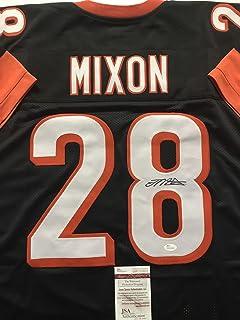 Autographed/Signed Joe Mixon Cincinnati Black Football Jersey JSA COA