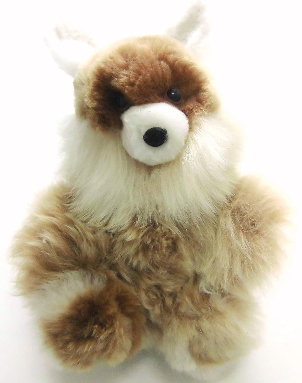 Alpacaandmore Murmeltier Figur Kuscheltier Alpakapelz 30 cm Handgemacht in Peru
