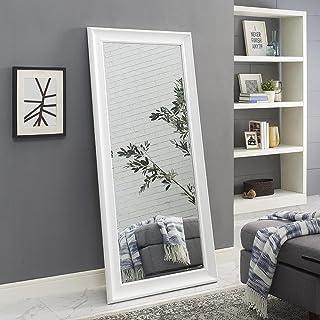 "Naomi Home Framed Floor Mirror White/65"" x 31"""