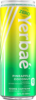 Yerbae Sparkling Water – Pineapple Coconut Fruit Flavored Seltzer with Caffeine, Antioxidants, Yerba Mate Natural Energy D...