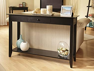 Convenience Concepts American Heritage Console Table with Drawer, Black