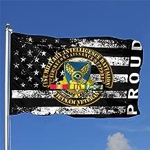 TTHOMR Proud American Flag 1st Military Intelligence Battalion Home Garden Flag Yard Outdoor Indoor Decorative Flag 4x6 Ft