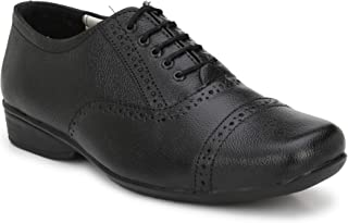 Stylelure Pure Leather Black Formal Brogue Shoes for Men