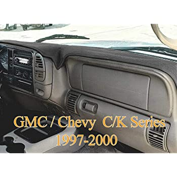 Amazon Com 1997 1999 Chevy Silverado Dash Cover Mat Pad Carpet Ch75 Black Automotive