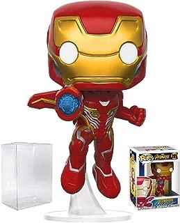 Funko Pop! Marvel: Avengers Infinity War - Iron Man Vinyl Figure (Bundled with Pop Box Protector Case)