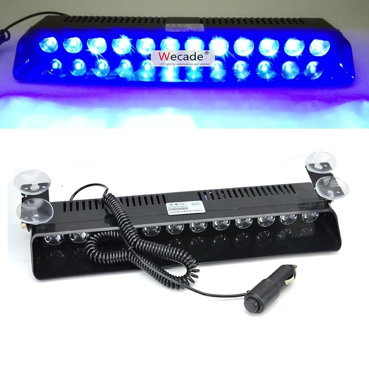 見分ける足首定数Ranzek 12 LED フロントライト 警告灯 12W 12V ダッシュボード インテリアカートラック緊急 ストロボフラッシュライト(青)