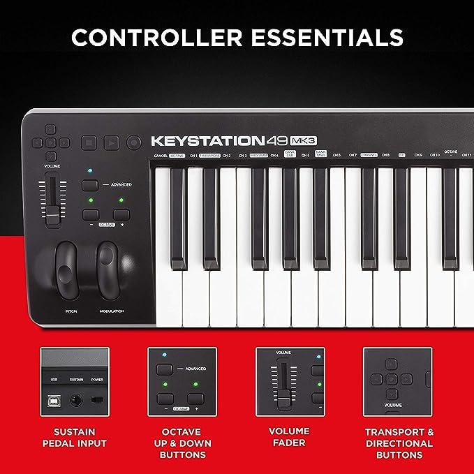 M-Audio Keystation 88 MK3 + SP-2 - Teclado controlador MIDI ...