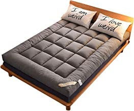 Thick Floor Futon Mattress Qulited Mattress Cover Tatami Mat Portable Camping Mattress Sleeping Mat Foldable Folding Bed -...