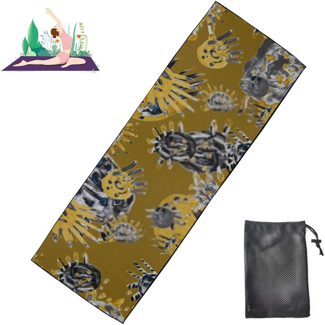 HJSHG Yoga Mat Towel Creative Pattern Elemen Hand Seamless Drawn Seattle Mall Direct sale of manufacturer
