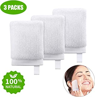 Makeup Remover Wipes Reusable Cotton Pads Face Eye Makeup Pads Silk Cotton Rounds Face Wipes Cloth Zero Waste, 3 Packs