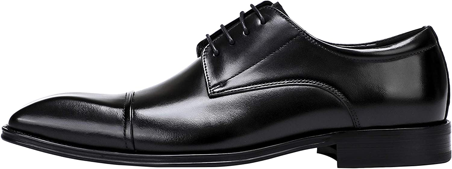 Men's Classic Modern Formal Oxfords Lace Up Leather Dress Shoes