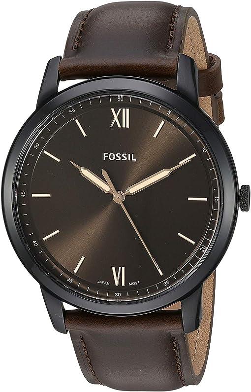 FS5557SET Black Brown Leather Bracelet Set