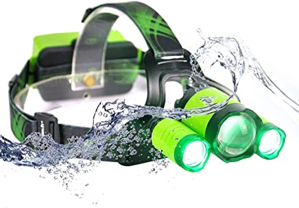 SHIJIAN LED Head Torch USB Rechargeable, 4 Modes 5000 Lumen Head Torches, IPX6 Waterproof for Outdoor Camping Hiking Cycling