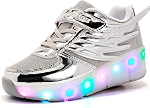 ZXSFC Kids Shoes with Wheels Boys Roller Shoes for Girls Wheel Shoes for Boys Girls Roller Skate Shoes Led Shoes Skateboarding Shoes Sportshoes Sneakers with Wheel for Kids 28-38