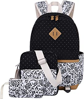 Escuela Mochila Canvas Backpack Casual Set Mochilas/Rucksack + Bolso del Mensajero + Monedero