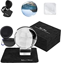 Photograph Crystal Ball with Stand and Pouch, K9 Crystal Suncatchers Ball with Microfiber Pouch, Decorative and Photograph...
