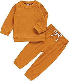 Cotton Toddler Baby Sweatshirt warmed Sweatpants Set Outfit for Baby Boy Girl Baby Tracksuit and Jogger Top and Trouser Jumpers and Pyjamas