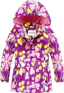 Disney Princess Girls Jacket Windbreaker Lightweight RainCoat Pink Blue 2-6 Yrs